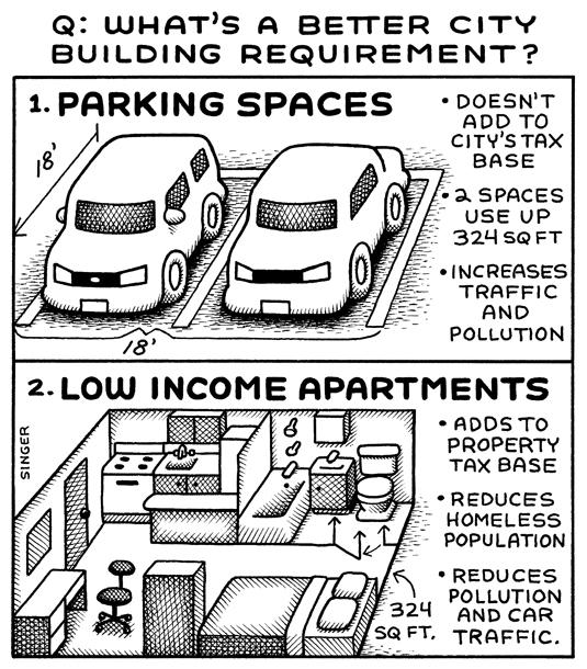 Parking Versus Low Income Apartments