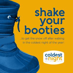 Shake your booties. Coldest Night Lethbridge