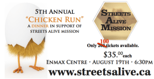 chicken run dinner only 100 tickets left