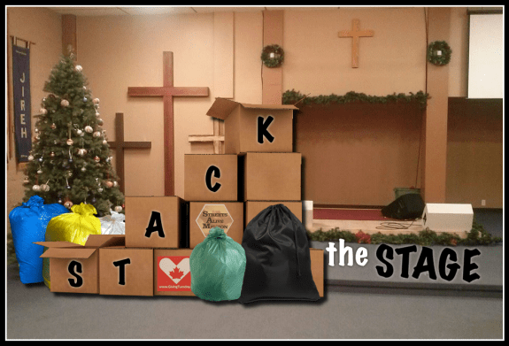 Stack the Stage - GivingTuesday - Streets Alive Mission