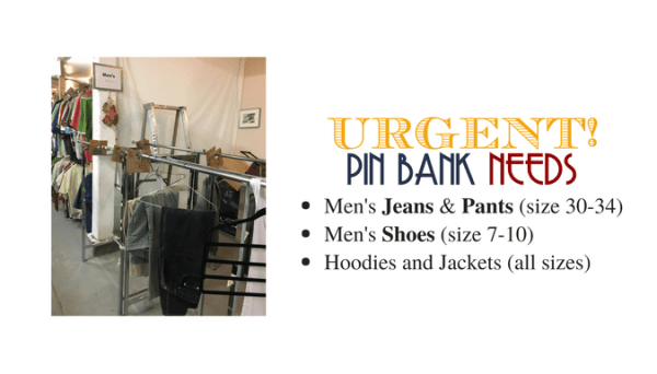 Urgent Need for Men's Clothing - Streets Alive - May 29 2017