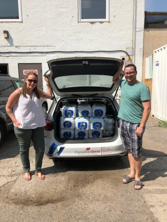 Jordan & Sam dropping off over $1700 in water donations to Streets Alive Mission thanks to YOU! Don't you just love it when our community comes together