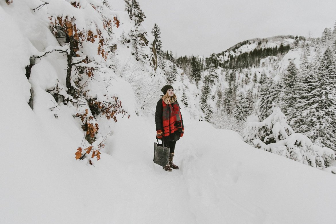 Hiking In The Snowy Colorado Mountains