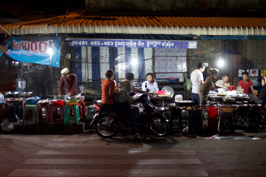 Shows of night market in Cambodia