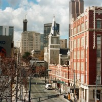 Old Sweet Auburn and the City Skyline