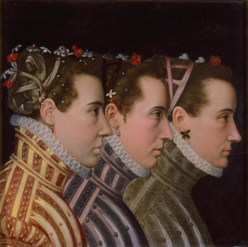 Triple Profile POrtrait of the Minions of Henry III