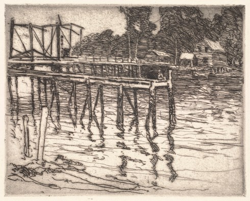 Woodbury Bridge at York Harbor 1919