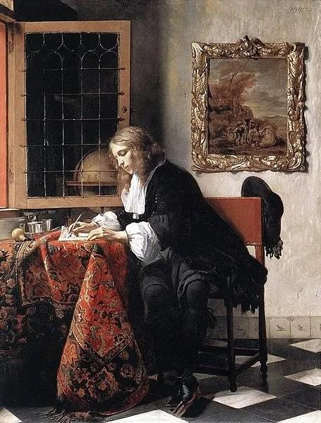 455px-Gabriel_Metsu_-_Man_Writing_a_Letter