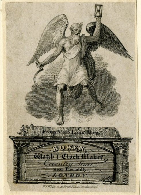 Father Time Bowen Watchmaker c 1810 BM