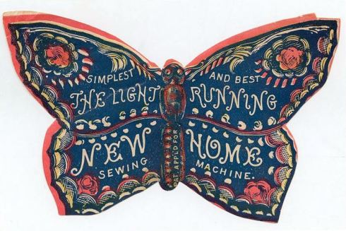 Trade Card Sewing Maching Butterfly