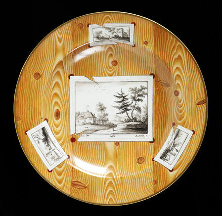 Faux Bois Vienna Plate c. 1810 Victoria and Albert Museum