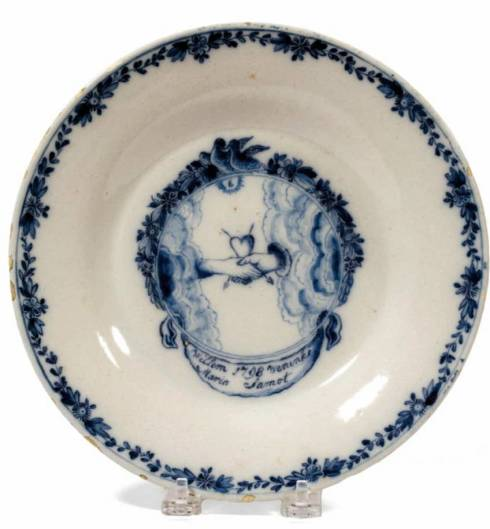Heart in Hand Plate 1798 Delft Northeast