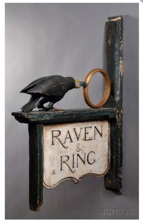 Tavern Sign Raven and Ring