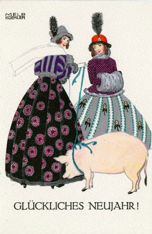 Porcine New Year 1910 Koehler MFA