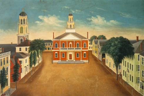Hunt House Court and Town House Square Salem MA 1820