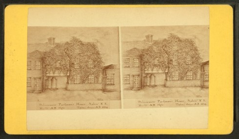 Deliverance Parkman House stereoview