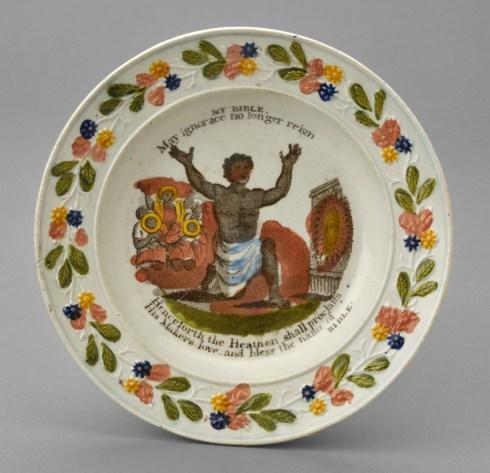Anti-slavery plate Winterthur Collection