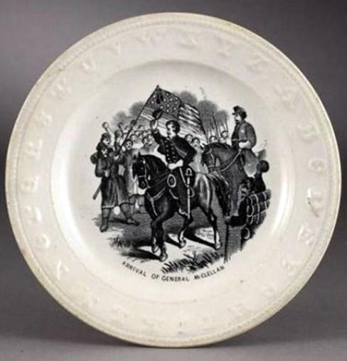 General McClellan Plate Cowan's Auctions