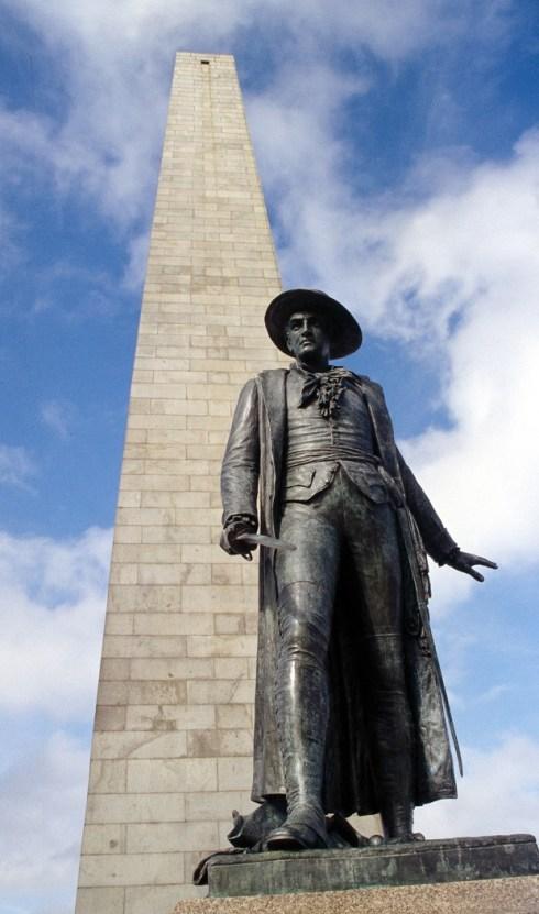 Bunker Hill Monument and Prescott