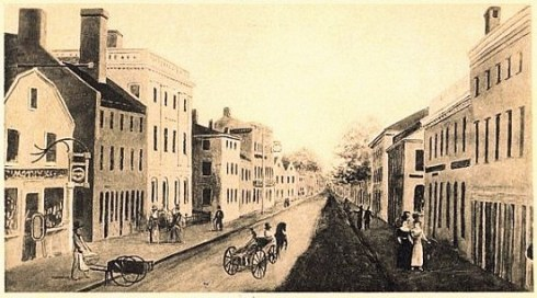 essex-street-salem-ma-postcard 1820s