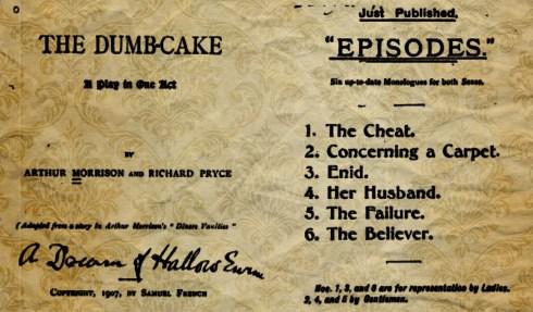 Dumb Cake Play 1907