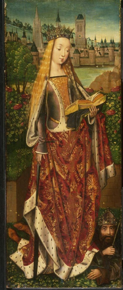 Saint Catherine withe the Defeated Emperor