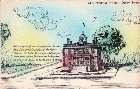 Salem Scrap 1910s PC Custom House