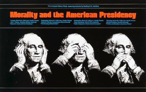 Washington Morality Poster 1974 Smithsonian