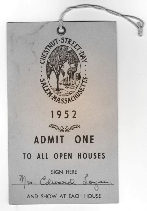 Chestnut Street Day 1952 Ticket