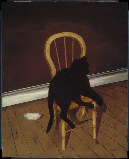 Black Cat on a Chair MFA