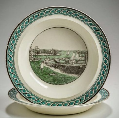 August Americana Salem Harbor Soup Plate