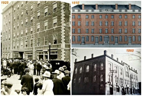 Hawthorne Hotel Buildings Collage