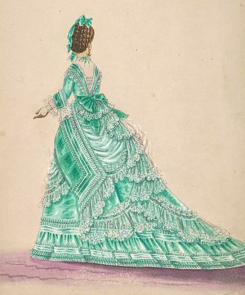Green dress 19th C MET