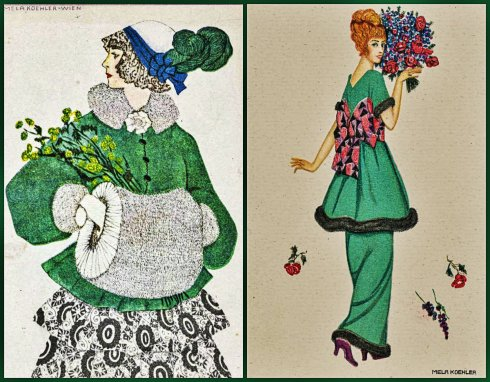 Green Dress Koehler collage
