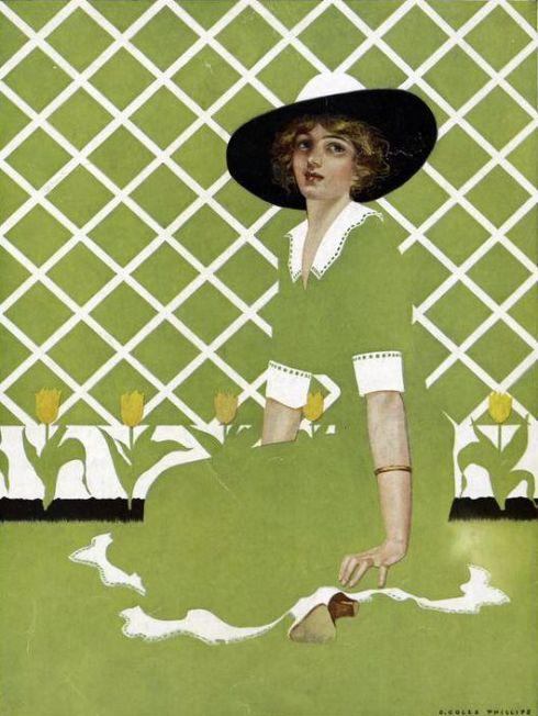 Green Dress Philip Coles NYPL 1912