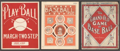baseball songs collage