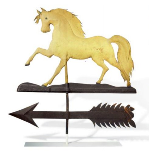 artful arrows horse weathervane