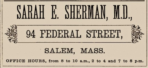 SUffrage Sarah Sherman 1877 Salem Directory (2)