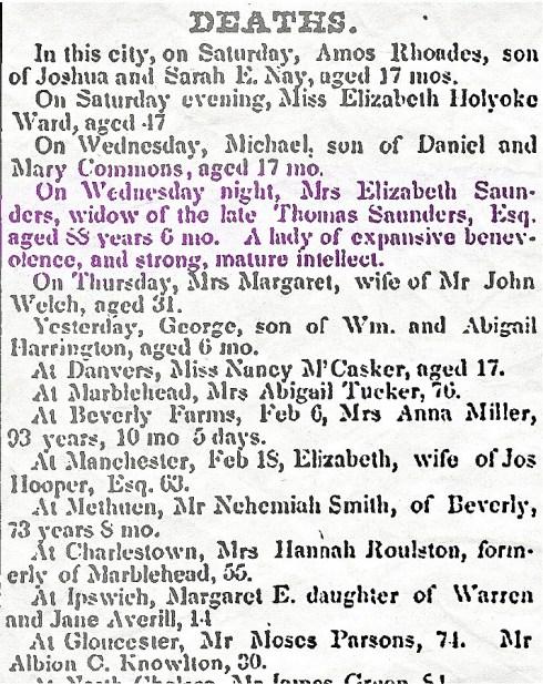 Sanders Feb 22 1851
