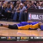 D'Angelo Russell Shot to the Groin by LeBron James
