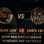 [Video]- HILIFE LIVE VS CHRIS TROTTER #BBBL / NUERA | RENEGADE RAP BATTLES 2 @BODY_BAG_BL  @JORILLA_G