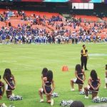 Howard's Cheerleaders Kneel During National Anthem