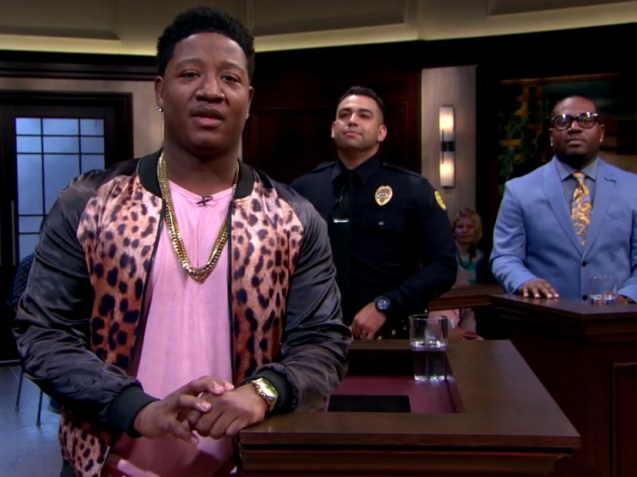 YUNG JOC TAKES HIS BOOKING MANAGER TO SEE JUDGE FAITH JENKINS SHOW!