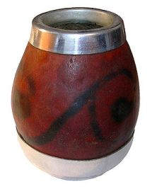 This image shows a calabash as used for drinki...