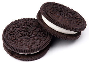 Double Stuf Oreos, by Nabisco.