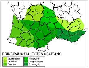 Carte de l'occitan