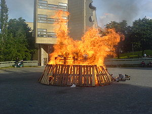 English: Picture of Norwegian local midsummer-...