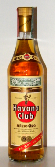 Bottle of cuban rum