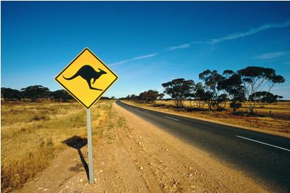 Australian roadsigns are of interest because they show animals which are not found in other parts of the world