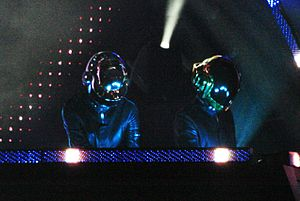 Daft Punk at O2 Wireless Festival, cropped fro...